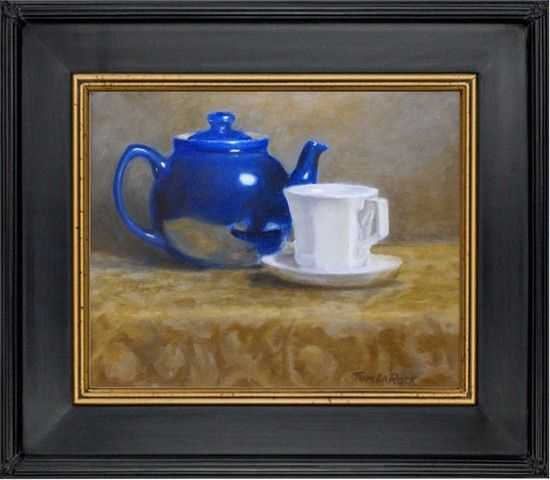 Teapot and Cup 8x10 at Hunter Wolff Gallery