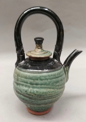 Click to view detail for Miniature Teapot - Green