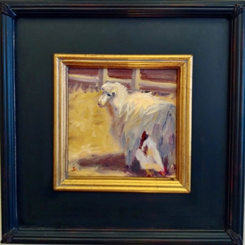 Click to view detail for The Watchful Ewe 6x6 $275
