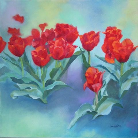 Click to view detail for Tulip Time 24x24