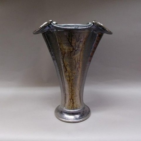 Click to view detail for Vase - Salt-Fired Silver