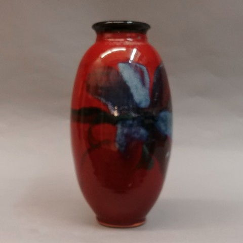 Click to view detail for Vase, Floral 10.5 x 5