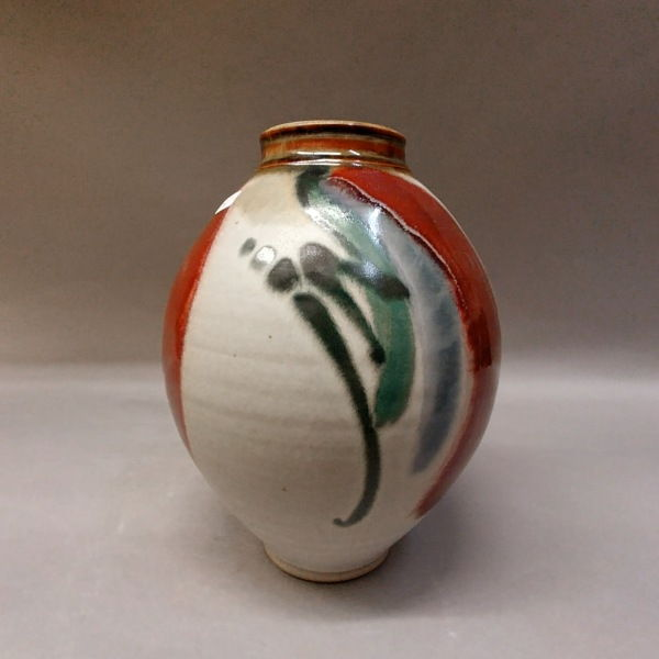 Click to view detail for Vase, Floral 9x6