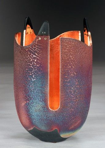 WB-1334 Glow Pot with Ebony Wood at Hunter Wolff Gallery