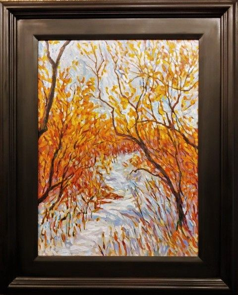 Click to view detail for Winter Trail 24x18 $900