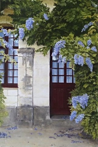 Click to view detail for Wisteria Doorway