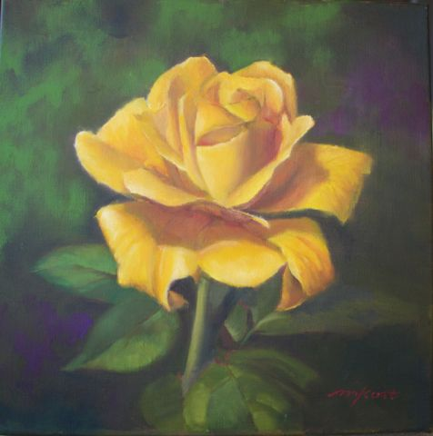Click to view detail for Yellow Rose 12x12