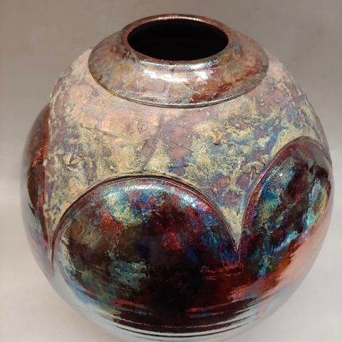 Raku Large 15x11.5 at Hunter Wolff Gallery
