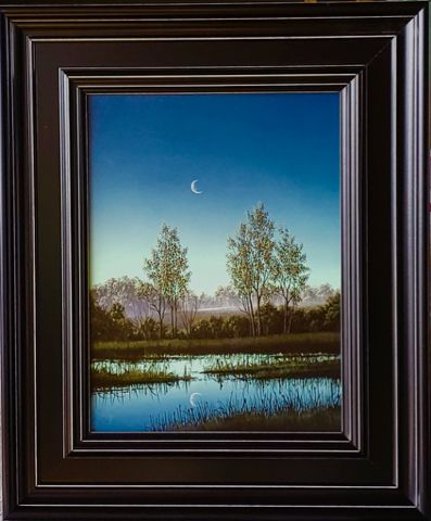 Click to view detail for Blue Morning Pasture 16x12