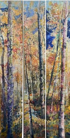 Click to view detail for Blue Mountain (triptych) 72x12