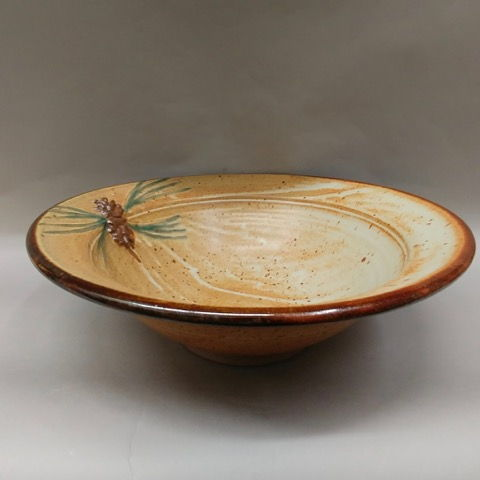 Click to view detail for Bowl with Pine Cone Motif