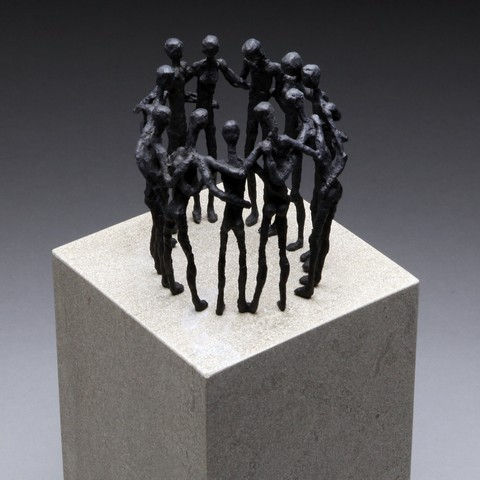Click to view detail for Common Ground, Bronze on Limestone