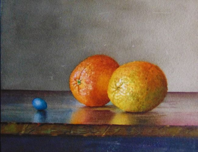 Click to view detail for Oranges & Robin's Egg 8x10