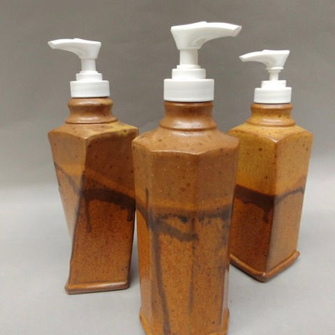 Click to view detail for Soap Dispensers Tan and Brown