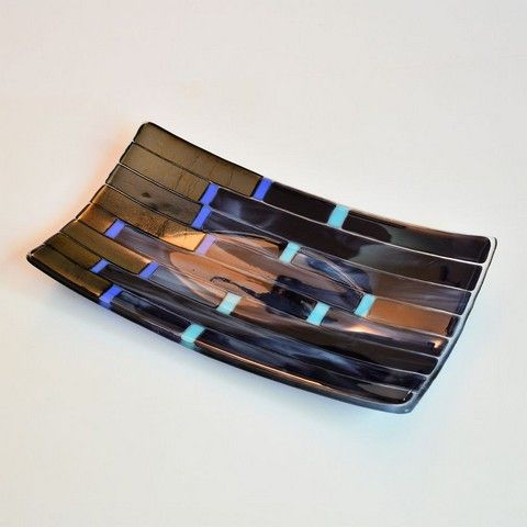 DM-018 Stripes II Platter/Tray  at Hunter Wolff Gallery
