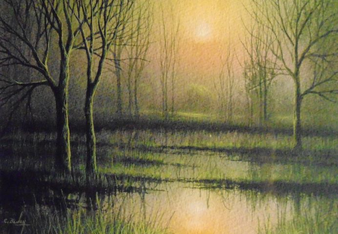 Click to view detail for Warm Mist 7x10