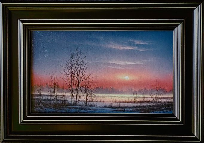 Click to view detail for Winter Sunrise 6x10 $650
